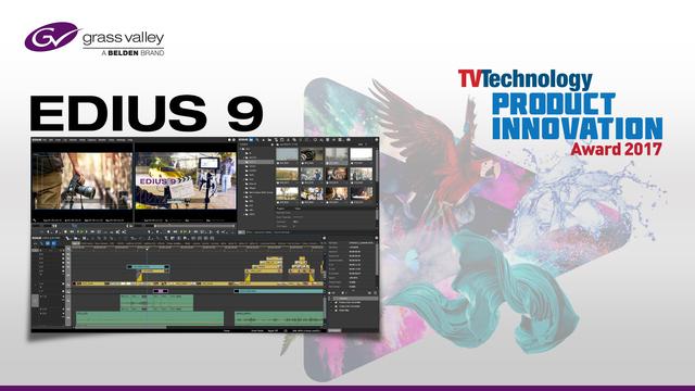 Grass Valley EDIUS 9 wins Product Innovation Award
