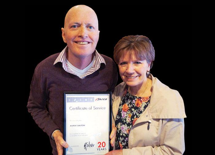 Rupert Dalton celebrates 20-year milestone with Jasco Group