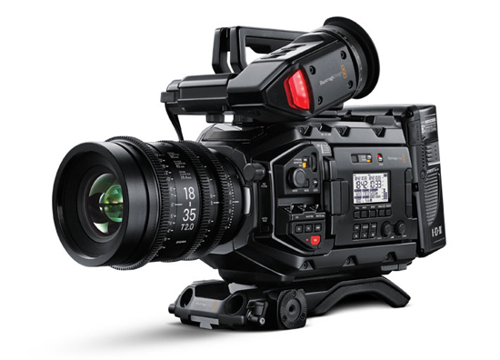Blackmagic Design's URSA Mini Pro 4.6K digital film camera on show at Mediatech 2017