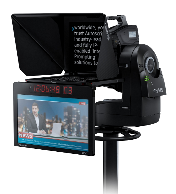 Autoscript and Autocue products on display at the 2018 NAB