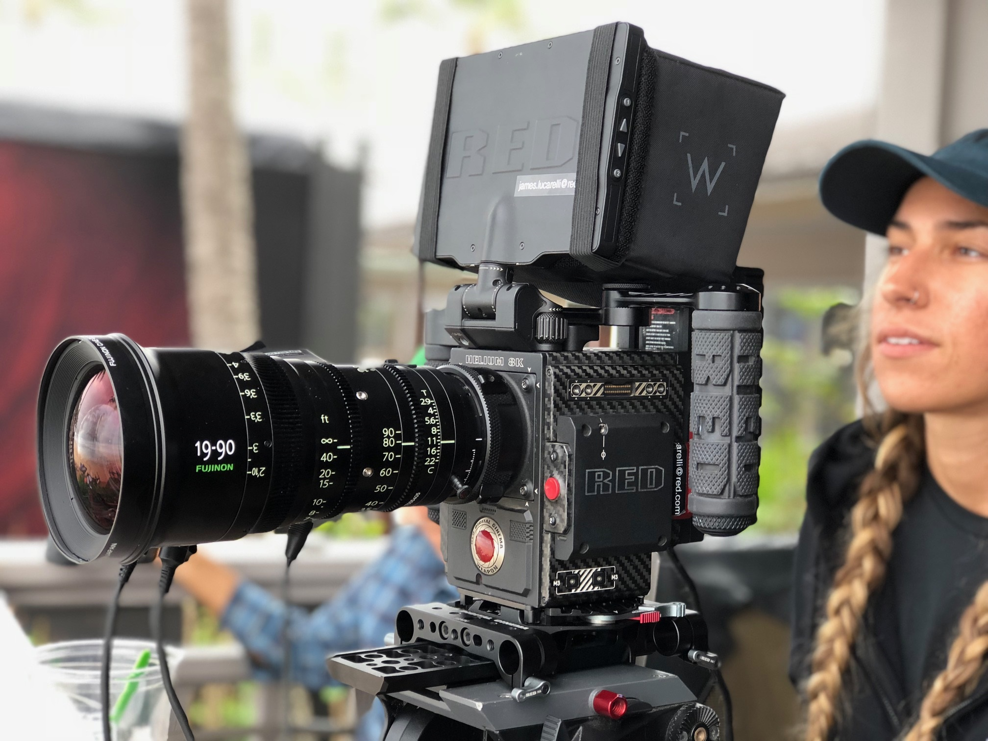RED Digital Cinema 8K camera paired with FUJINON zooms
