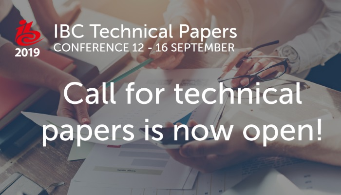 IBC2019 Technical Papers submission is now open