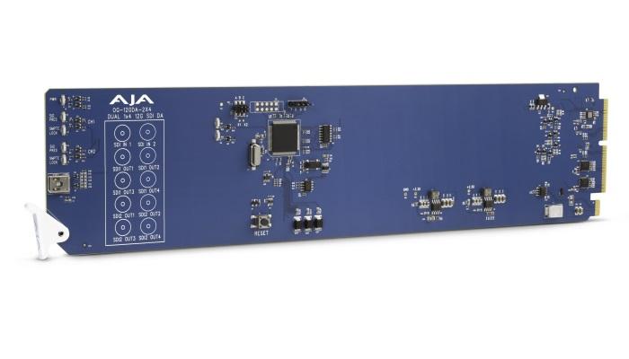 AJA announces OG-12GDA-2×4 openGear 12G-SDI distribution amplifier