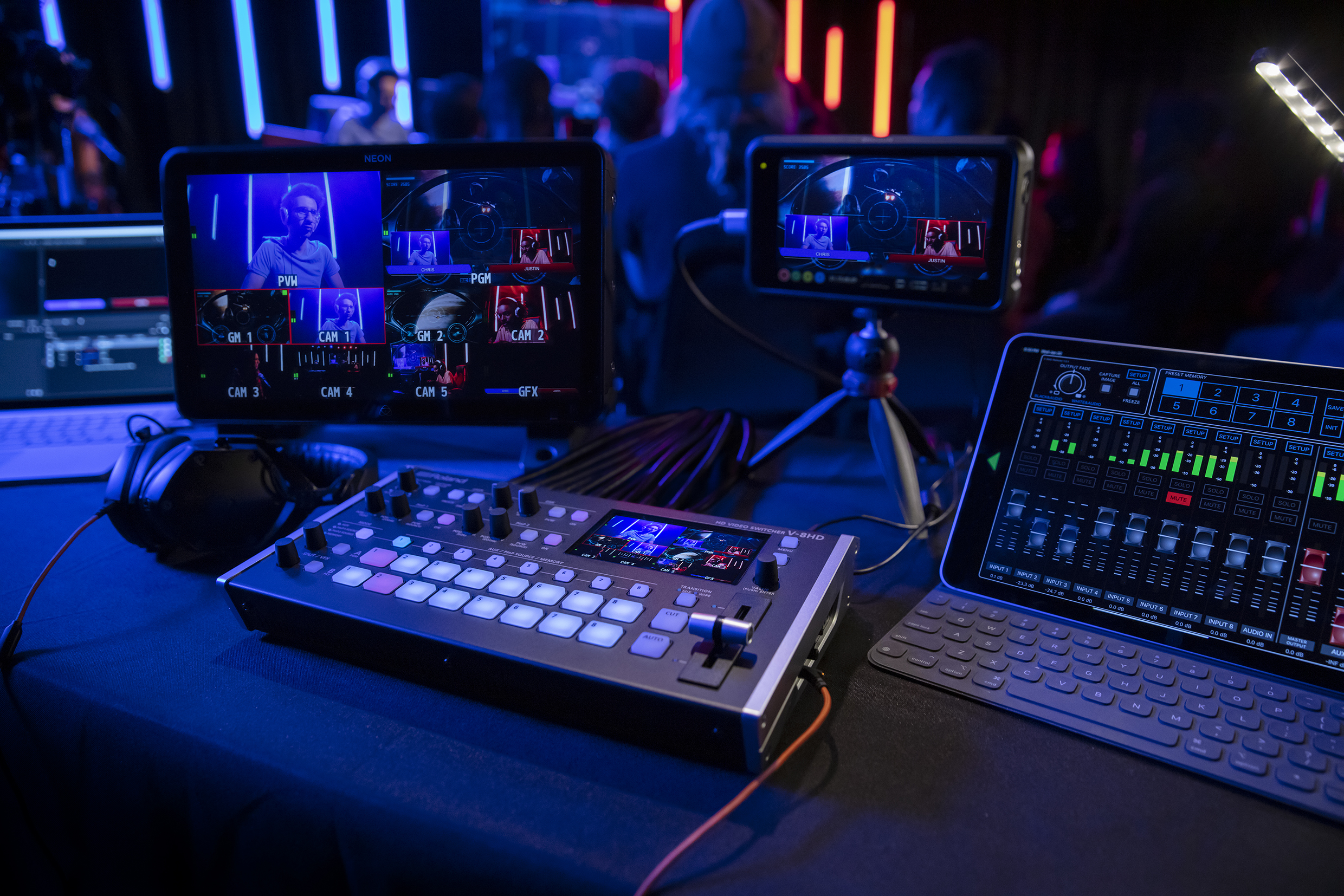 Atomos and Roland collaboration streamlines control of live, multi-camera content capture