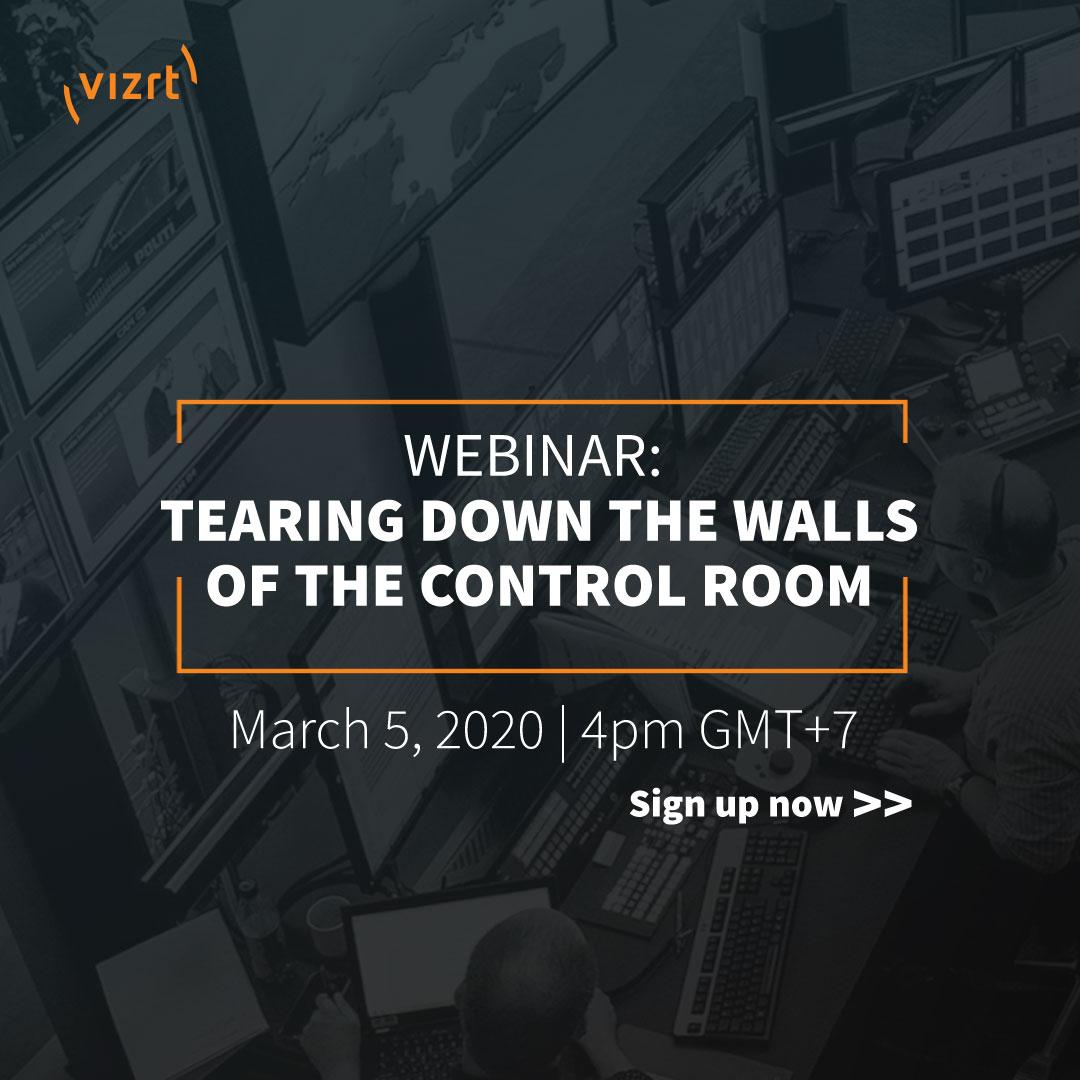 Vizrt Live Production Control Webinar: <em>Tearing down the walls of the control room</em>